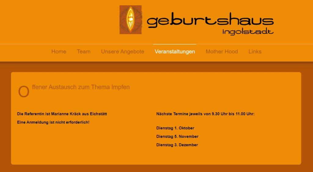 01.10.19 Ingolstadt: Offener Impf-Austausch