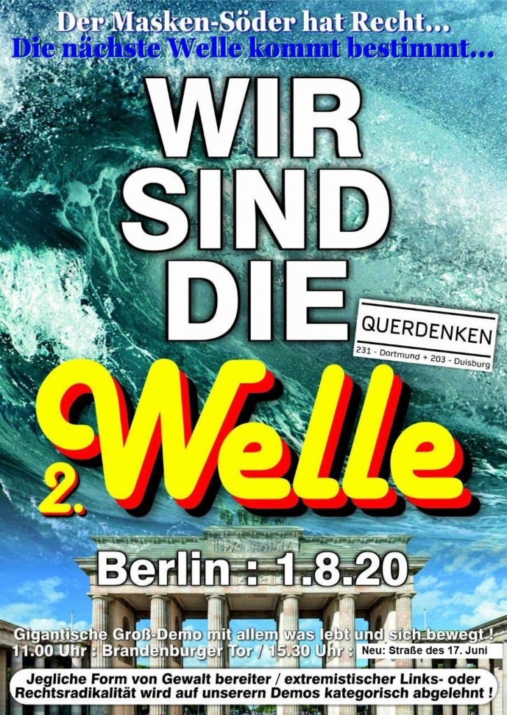 01.08.2020 Berlin: Das Ende der Pandemie. Ausbruch des Freiheits-Virus