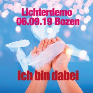 06.09.19: LichterDemo in Bozen/Südtirol
