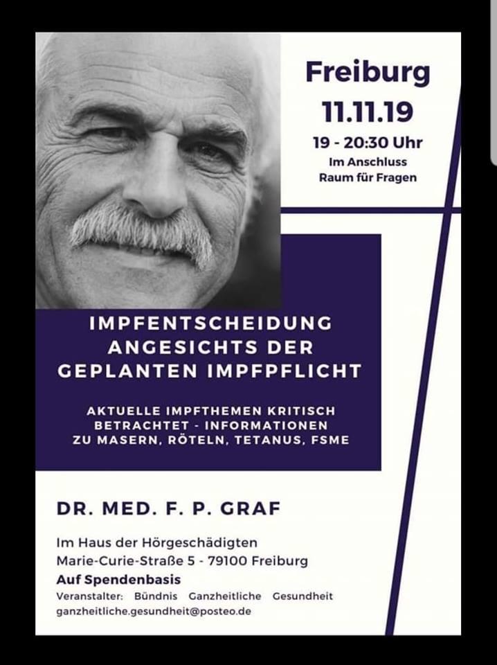 11.11.19 Dr. Graf in Freiburg!