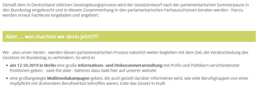 12.10.2019 Berlin: Große Informations- und Diskussionveranstaltung