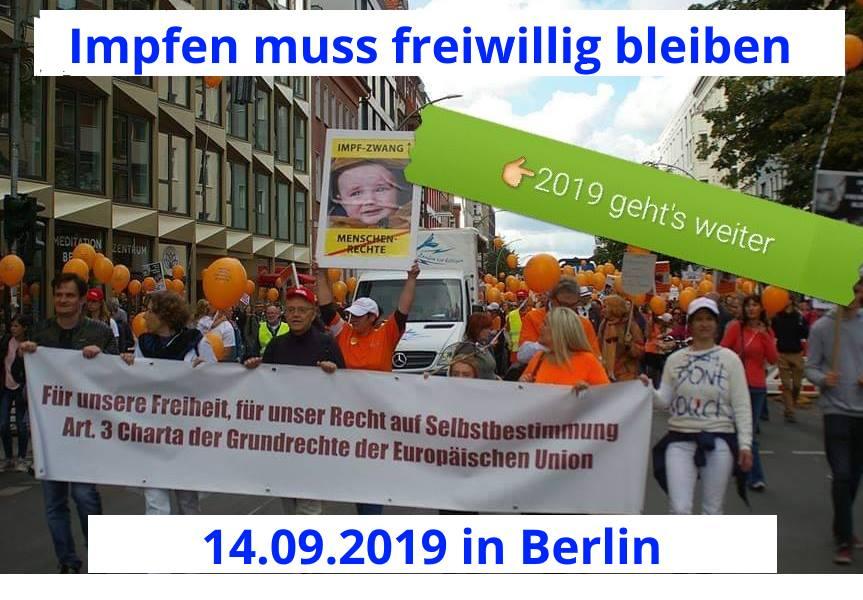 DEMO in BERLIN: Impfen muss freiwillig bleiben!