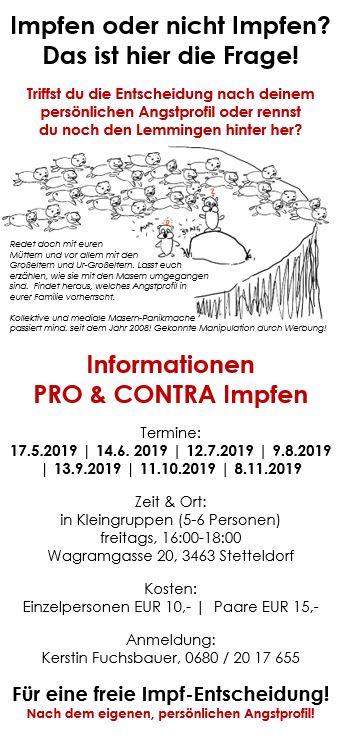 Informationen PRO & CONTRA Impfen