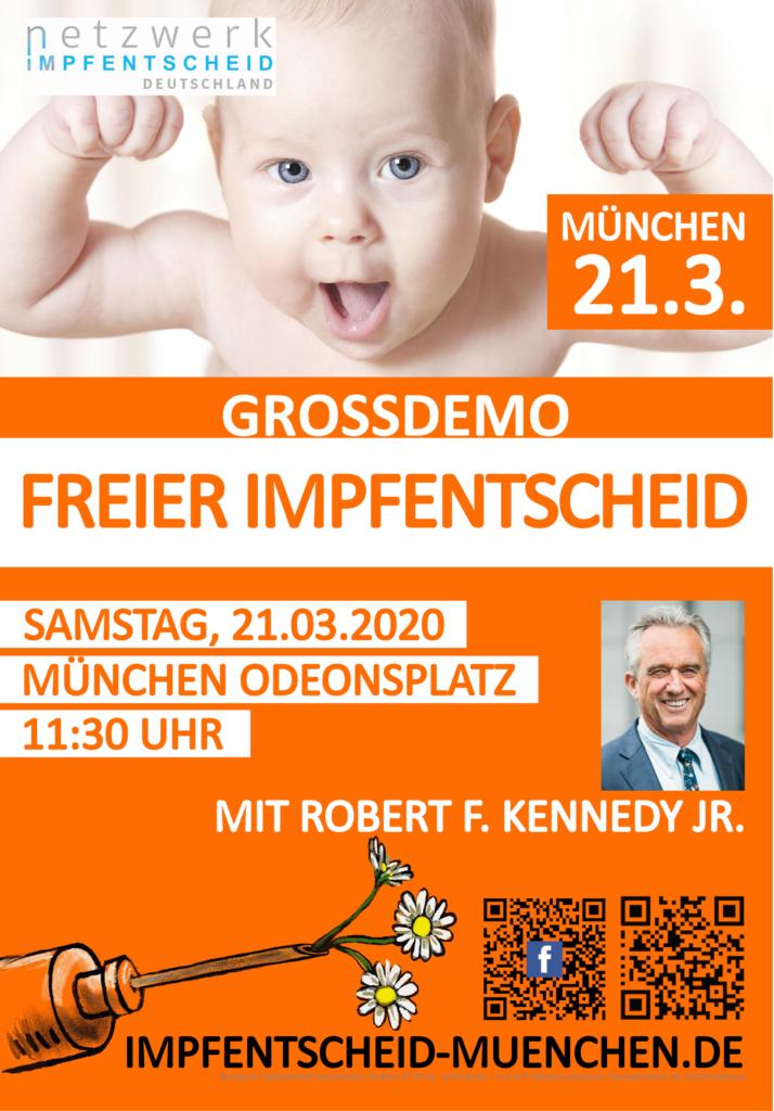 21.03.20 Demo in München mit Robert Kennedy