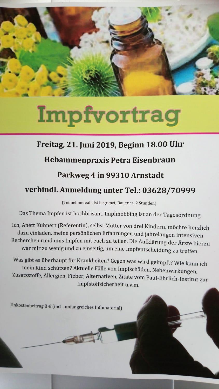Impfvortrag Arnstadt