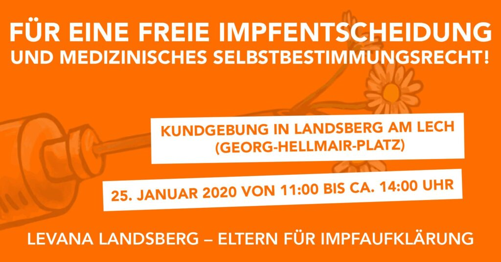 25.01.2020: Demo in Landsberg am Lech