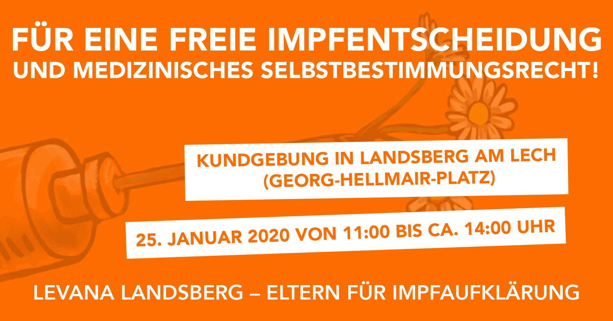 25.01.2020: Demo in Landsberg am Lech