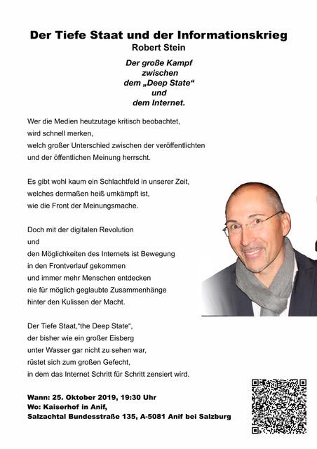 Robert Stein: Der Tiefe Staat und der Informationskrieg!