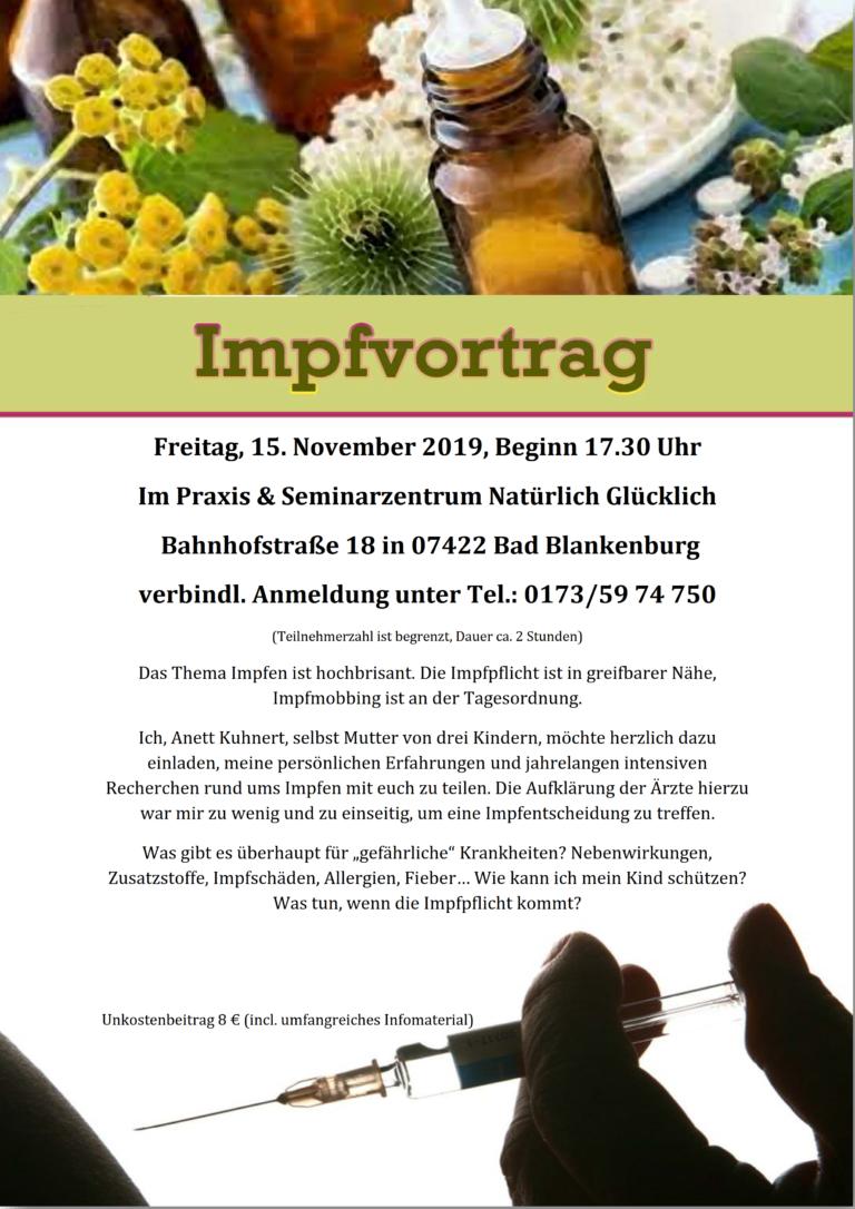 15.11.19 Bad Blankenburg: Impfkritischer Vertrag