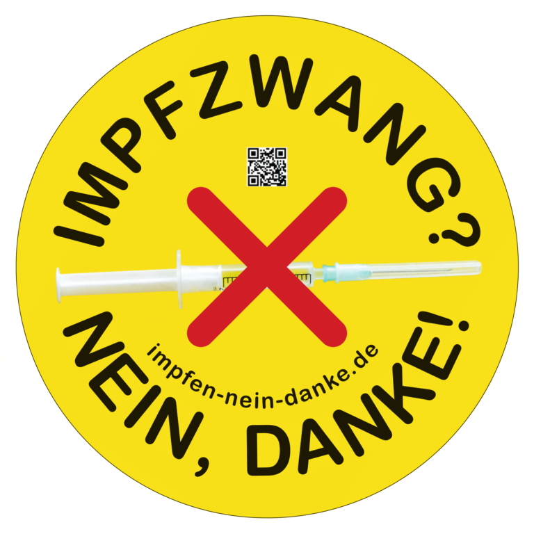 Neu: Aufkleber gegen Impfzwang!