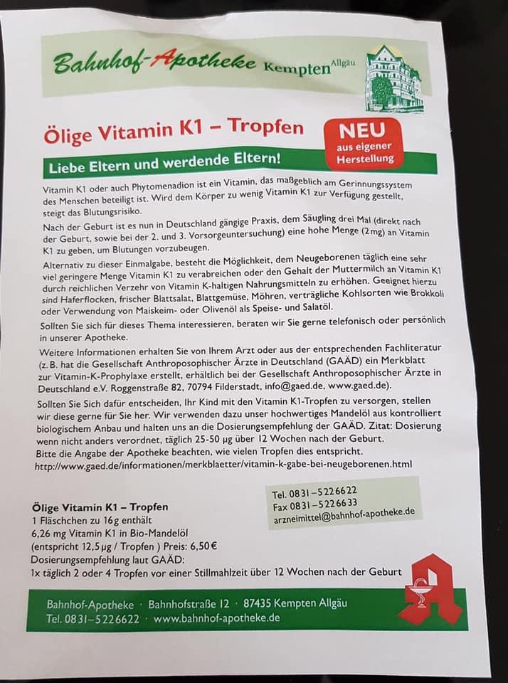 Vitamin K-Mangel