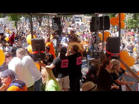 """Netzwerk ImpfentscheidDE: Berlin 1.8.2020 """"Tag der Freiheit"""" - Komplette Demo von Wagen 2"""